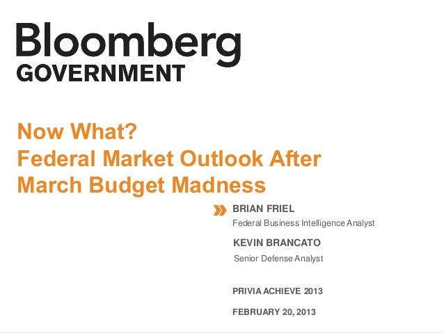 Now What? Federal Market Outlook After the March Budget Madness