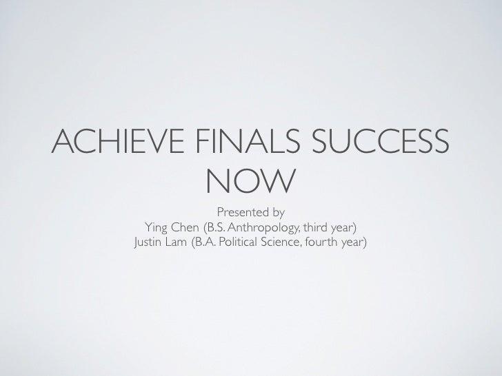 Achieve Finals Success Now