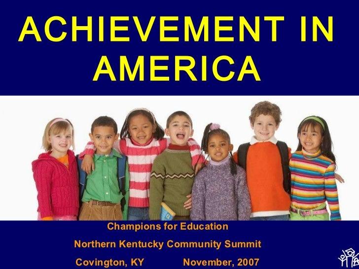 Achievement in america