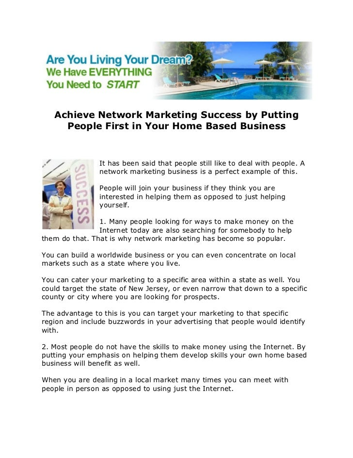 Home based business network marketing   Premier