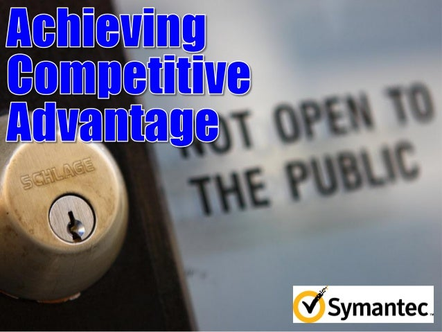 Achieving Competitive Advantage