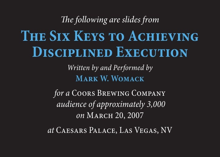 Achieving Disciplined Execution