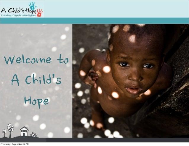 A child's hope presentation