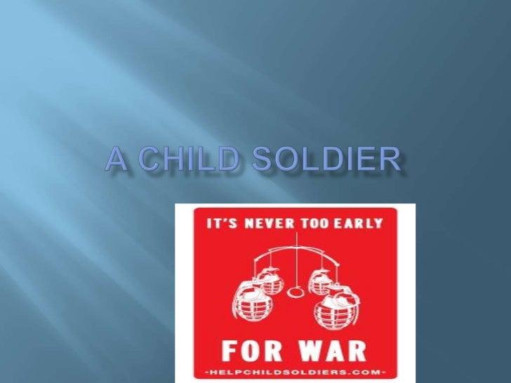 A child soldier<br />
