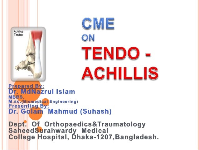 Largest   tendon in the  body Origin from  gastrocnemius and  soleus muscles Insertion on  calcanealtuberosity