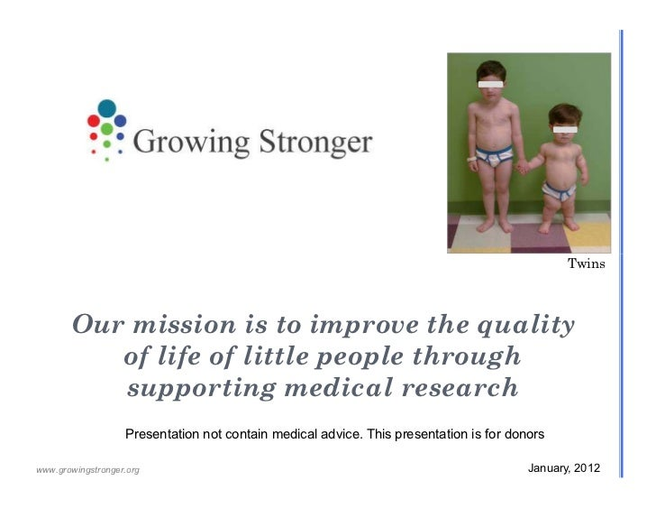 Growing Stronger Research Fund Overview Jan 2012 For Donors