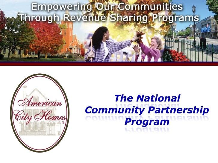 American City Homes - Community Partnership Program