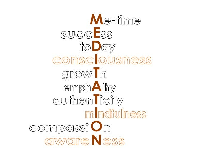 MEDITATION m ndfulness emph  thy authen  icity aware  ess consc ousness grow  h compassi  n e-time succ  ss to  ay