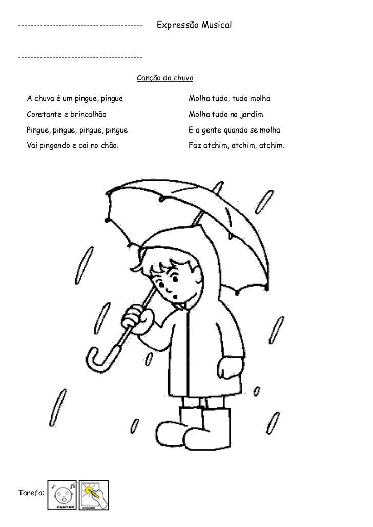 A chuva é um pingue pingue   3 anos