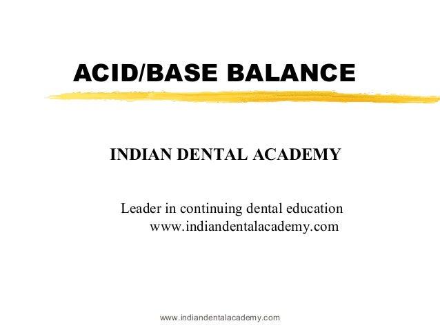 Acid base  /dental courses