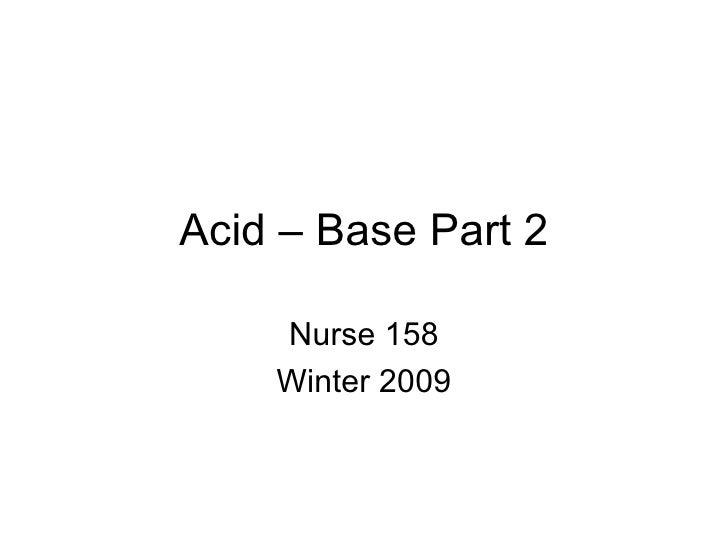 Acid – Base Part 2