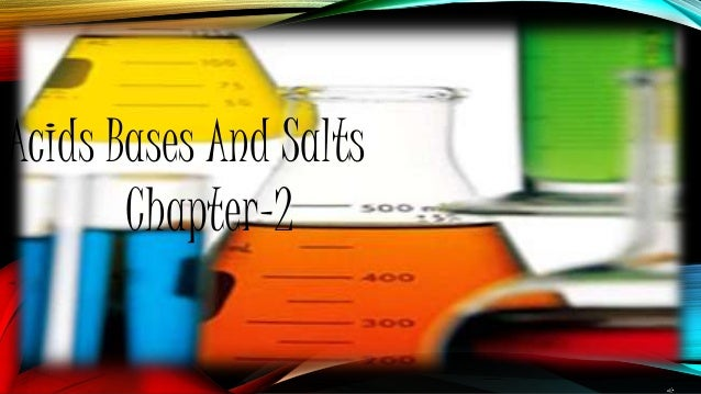 Acids Bases And Salts Chapter-2