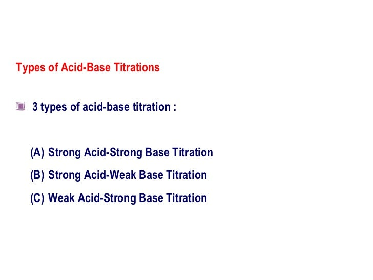 acid base titrations lab report In this experiment sodium hydroxide is neutralised with hydrochloric acid to produce the soluble salt sodium chloride in solution an acid-base titration was used to find the concentration of a basic solution and then to.