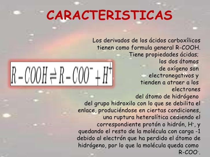 Formula de Los Acidos Carboxilicos de Los ácidos Carboxílicos