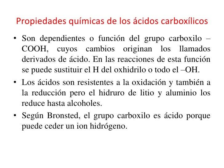 Derivados de Los Acidos Carboxilicos Ejemplos Los ácidos Carboxílicos•