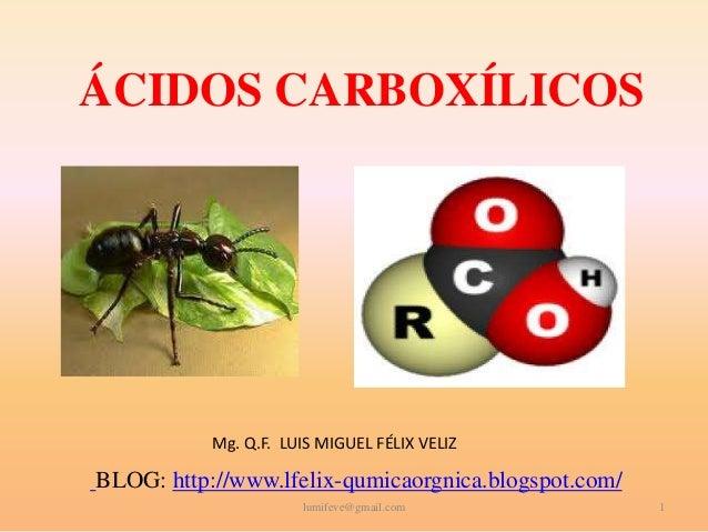 Acidos Carboxilicos ácidos Carboxílicos mg Q.f