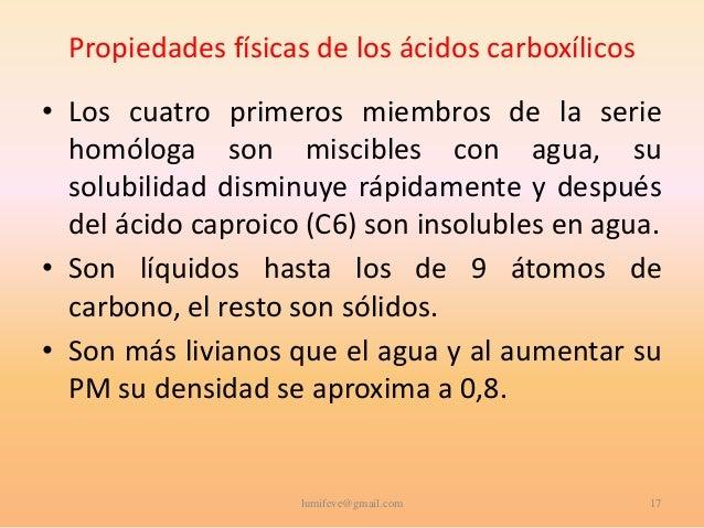 Formula de Los Acidos Carboxilicos Los ácidos Carboxílicos•