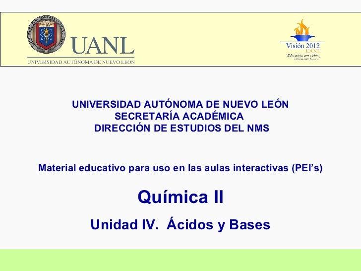 UNIVERSIDAD AUTÓNOMA DE NUEVO LEÓN SECRETARÍA ACADÉMICA  DIRECCIÓN DE ESTUDIOS DEL NMS Material educativo para uso en las ...