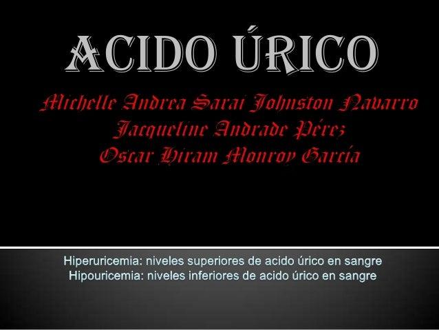 Acido úrico