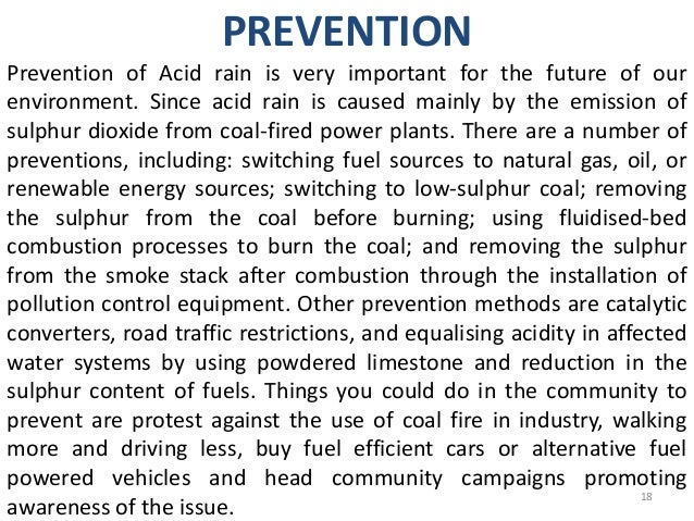 Cause and effect essay about acid rain