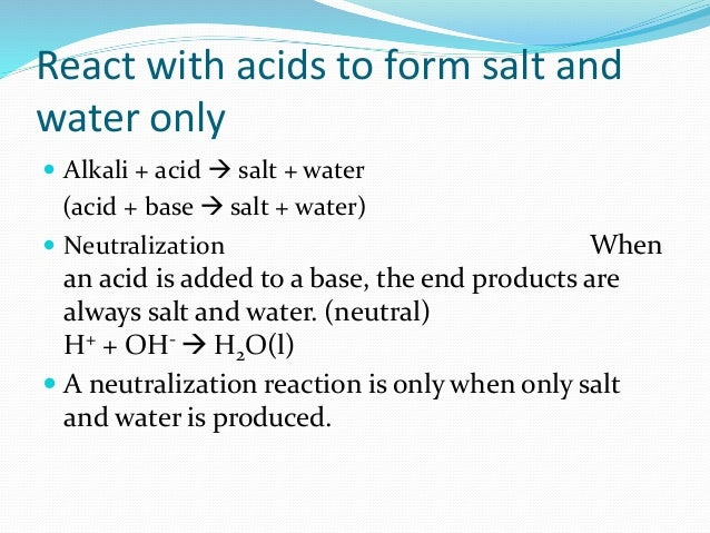 acid and water