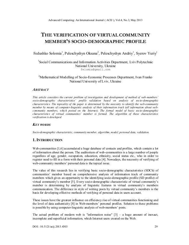 Advanced Computing: An International Journal ( ACIJ ), Vol.4, No.3, May 2013DOI : 10.5121/acij.2013.4303 29THE VERIFICATIO...