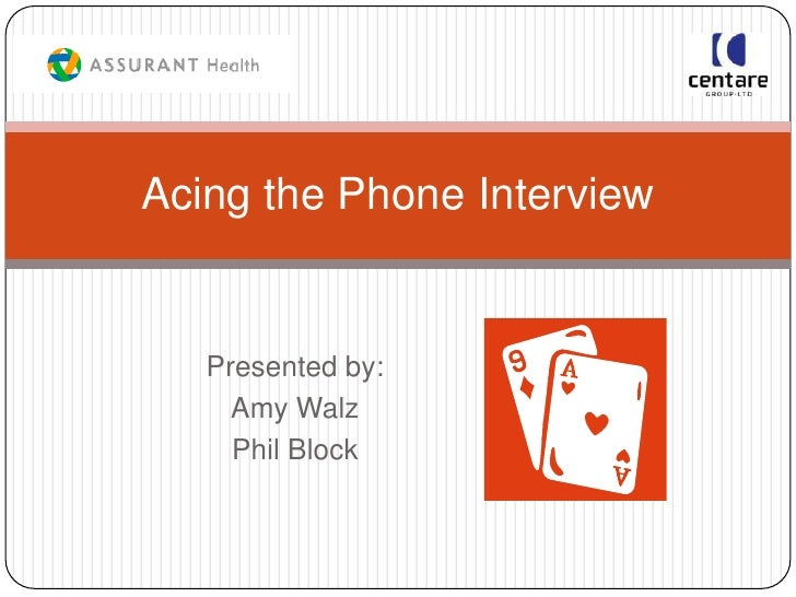 Acing the phone interview