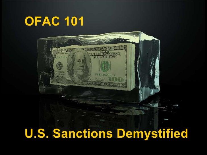 OFAC 101 U.S. Sanctions Demystified