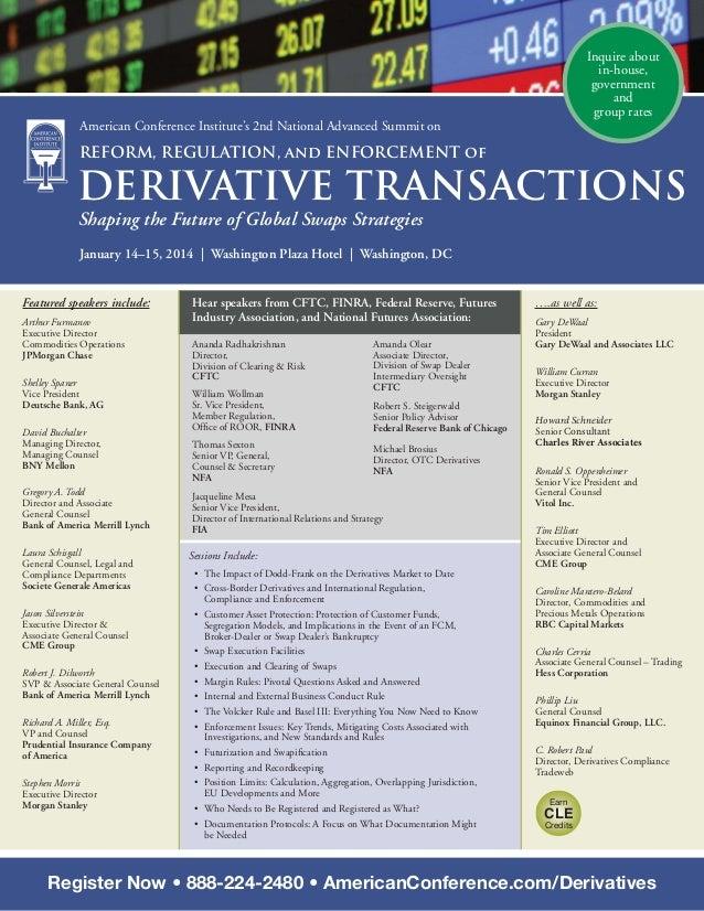 ACI's 2nd National Derivatives Summit