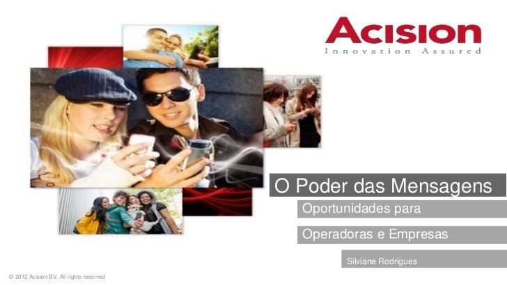 Acision - Messaging Opportunities - Futurecom 2012