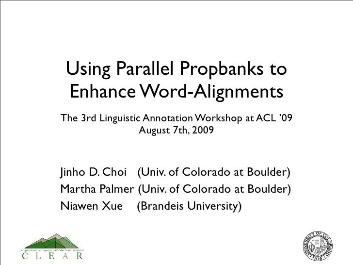 Using Parallel Propbanks to Enhance Word-alignments