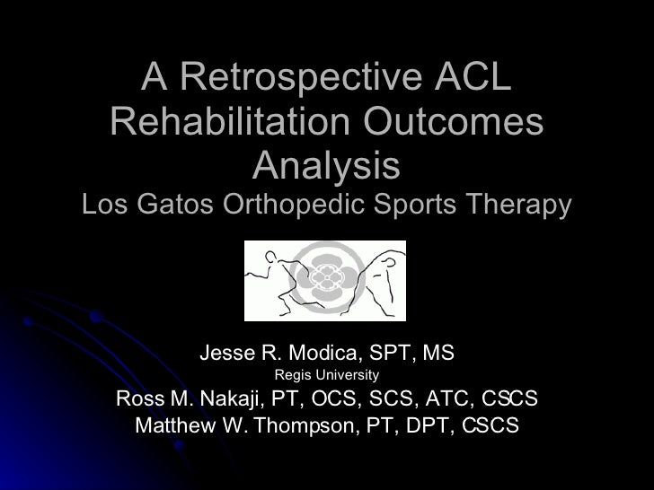 ACL Allograft Reconstruction Outcomes Presentation