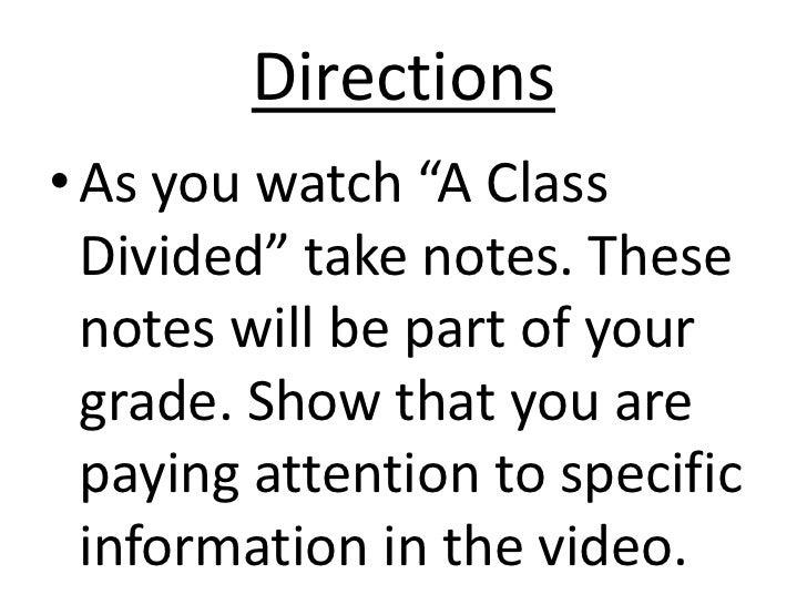 a class divided essay