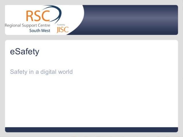 eSafety Safety in a digital world