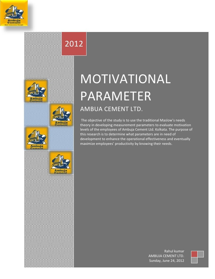 Project on Motivation