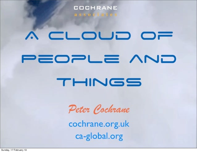 A cloud of people and things
