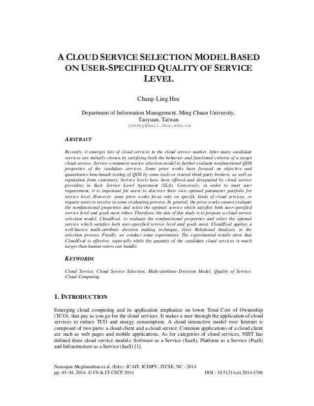Natarajan Meghanathan et al. (Eds) : ICAIT, ICDIPV, ITCSE, NC - 2014 pp. 43–54, 2014. © CS & IT-CSCP 2014 DOI : 10.5121/cs...