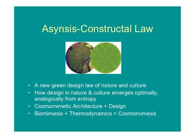 Asynsis-Constructal Law  A new green design law of nature and culture  How design in nature & culture emerges optimally,  ...