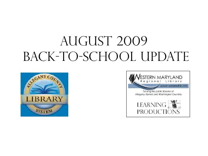 August 2009  back-to-school Update<br />