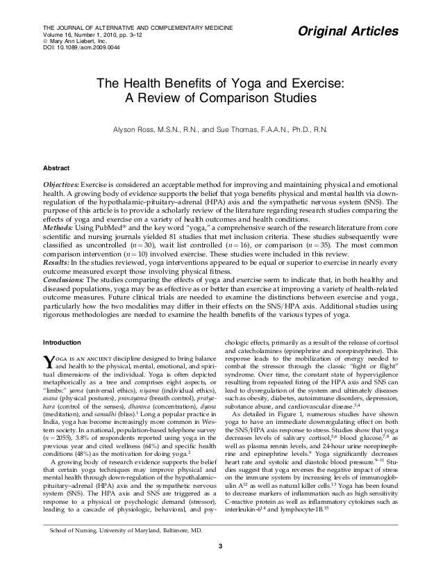 THE JOURNAL OF ALTERNATIVE AND COMPLEMENTARY MEDICINE Volume 16, Number 1, 2010, pp. 3–12 ª Mary Ann Liebert, Inc. DOI: 10...