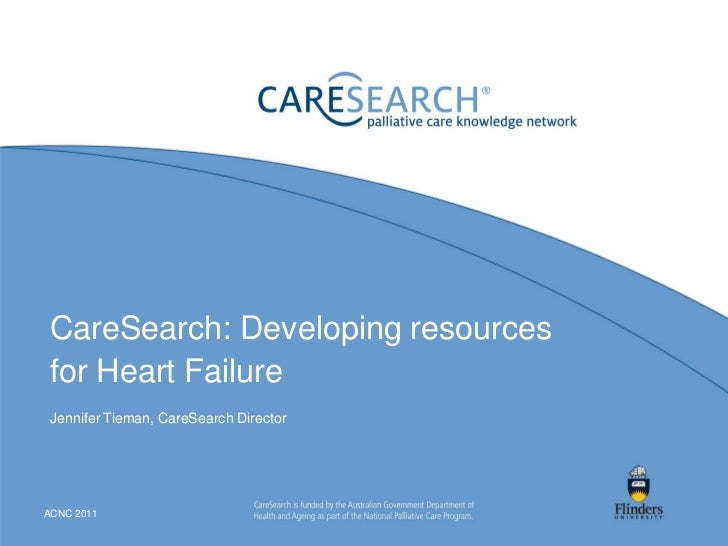 CareSearch: Developing resources for Heart Failure