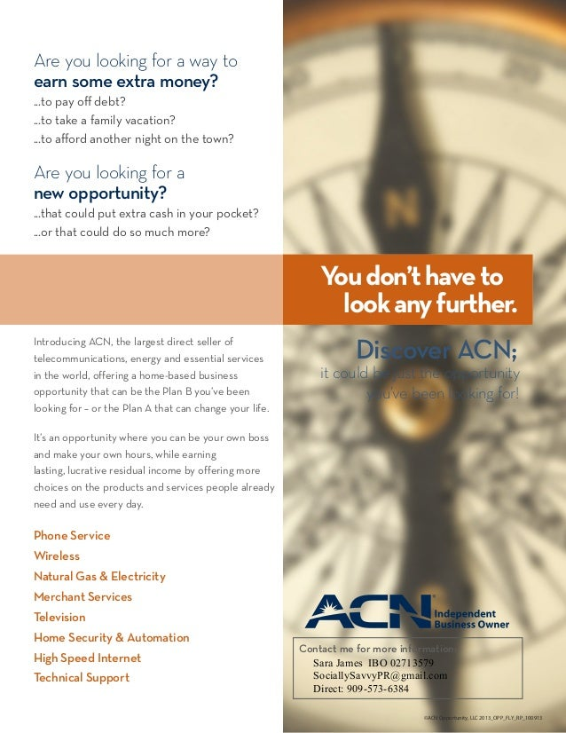 Acn opportunity flyer