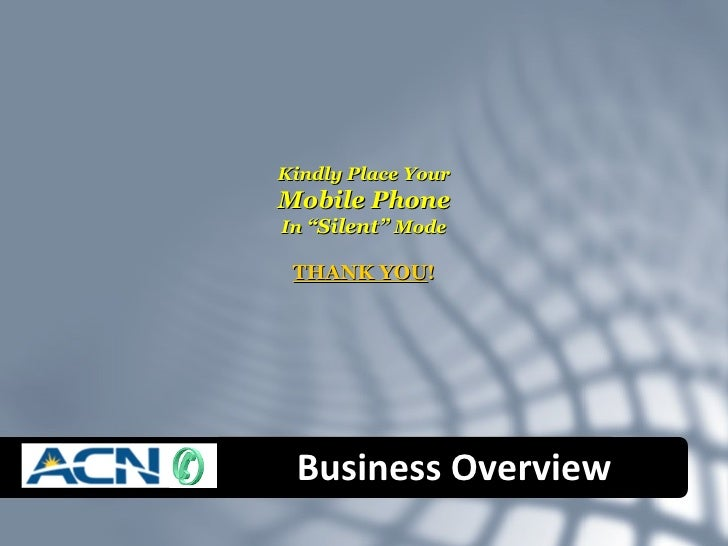 ACN Business Plan Overview