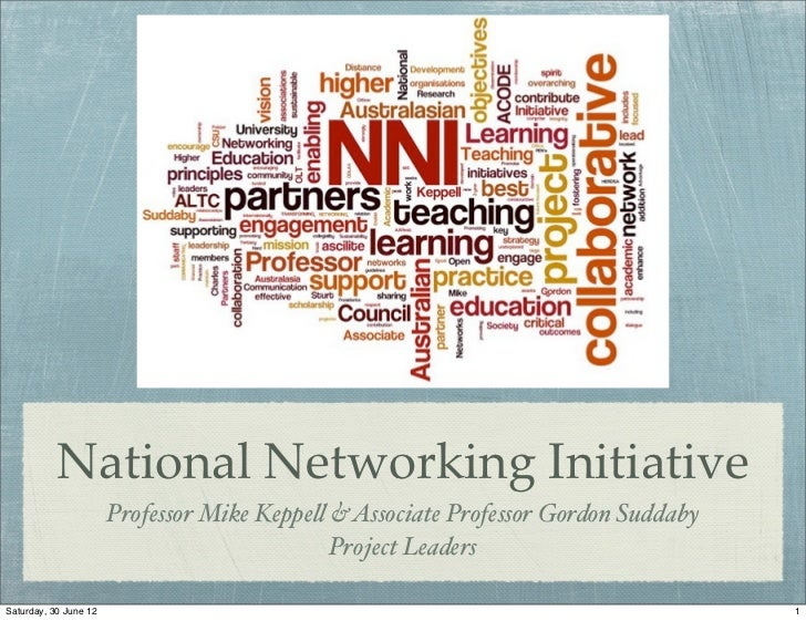 National Networking Initiative                       Professor Mike Keppe! & Associate Professor Gordon Suddaby           ...