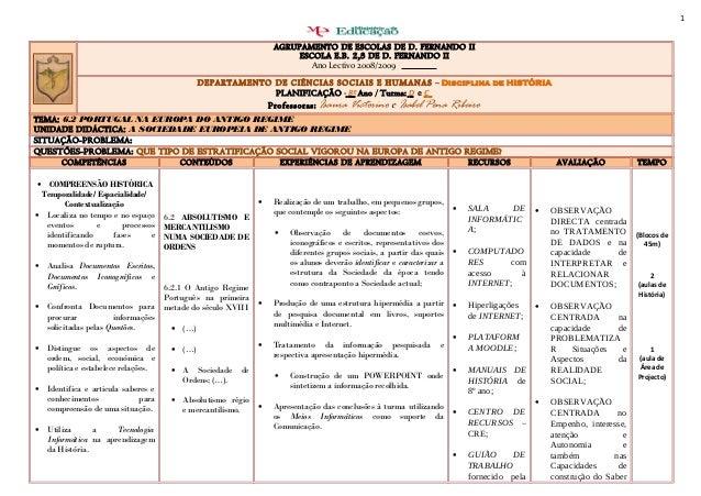 1 AGRUPAMENTO DE ESCOLAS DE D. FERNANDO II ESCOLA E.B. 2,3 DE D. FERNANDO II Ano Lectivo 2008/2009 DEPARTAMENTO DE CIÊNCIA...
