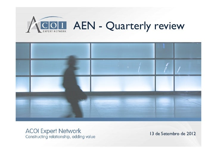Acoi expert network   quarterly review - set12