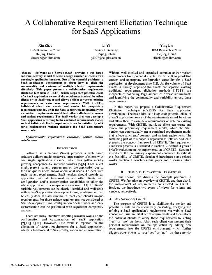 A Collaborative Requirement Elicitation Technique                                                       for SaaS Applicati...