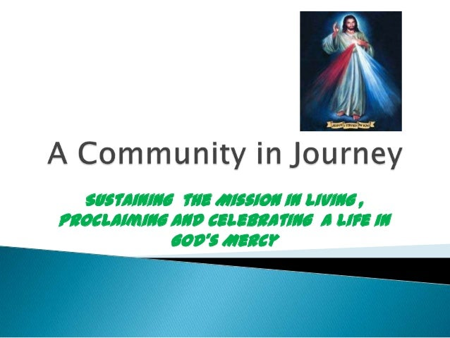 A Journey of the Divine Mercy In My Soul Community