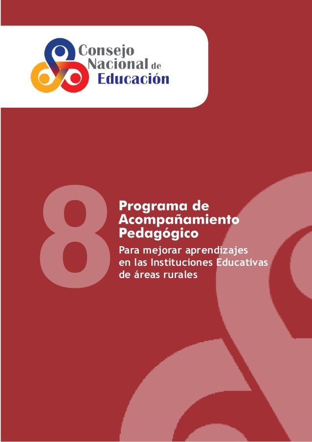 8  Para mejorar aprendizajes en las Instituciones Educativas de áreas rurales