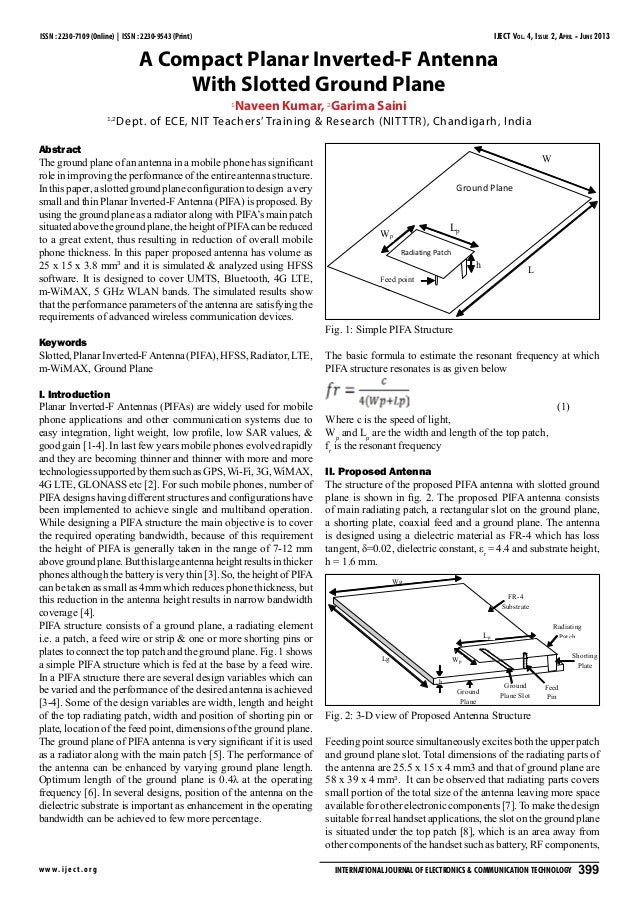 IJECT Vol. 4, Issue 2, April - June 2013 w w w.ijec t.org International Journal of Electronics & Communication Technology ...